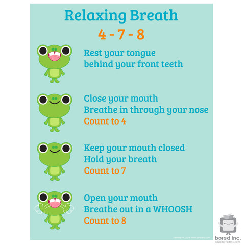 Digital Download: Relaxing Breath, Calming Poster