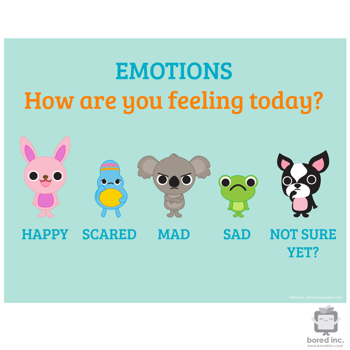 Digital Download: Emotion Scale Poster