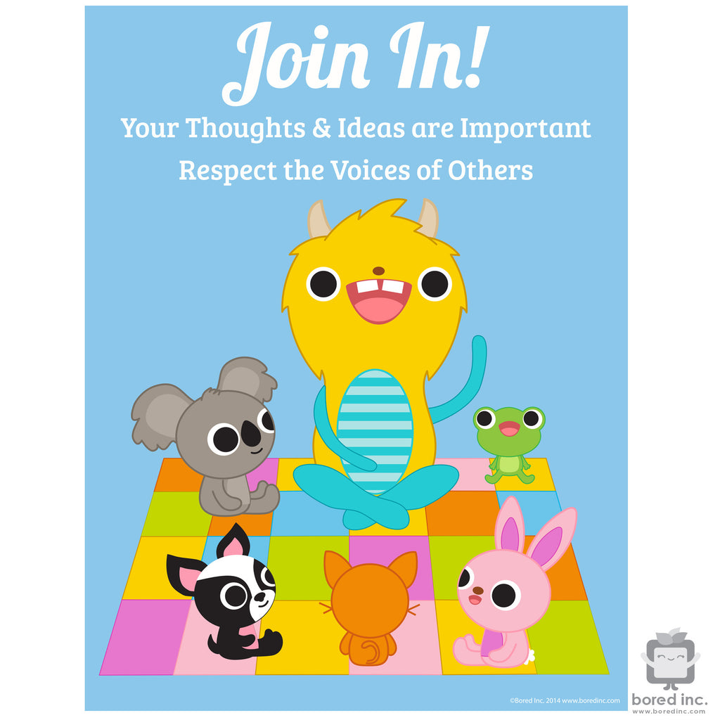 Digital Download: Join In! Classroom Participation Poster