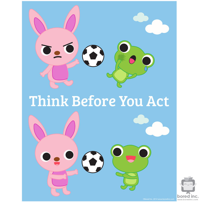 Digital Download: Think Before You Act Poster