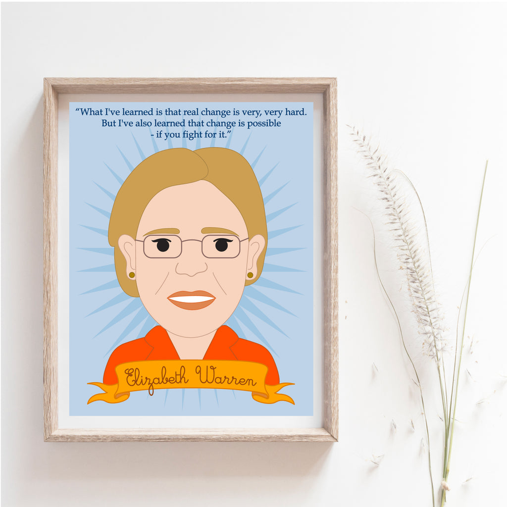 Sheroes Collection: Elizabeth Warren 8x10 Print