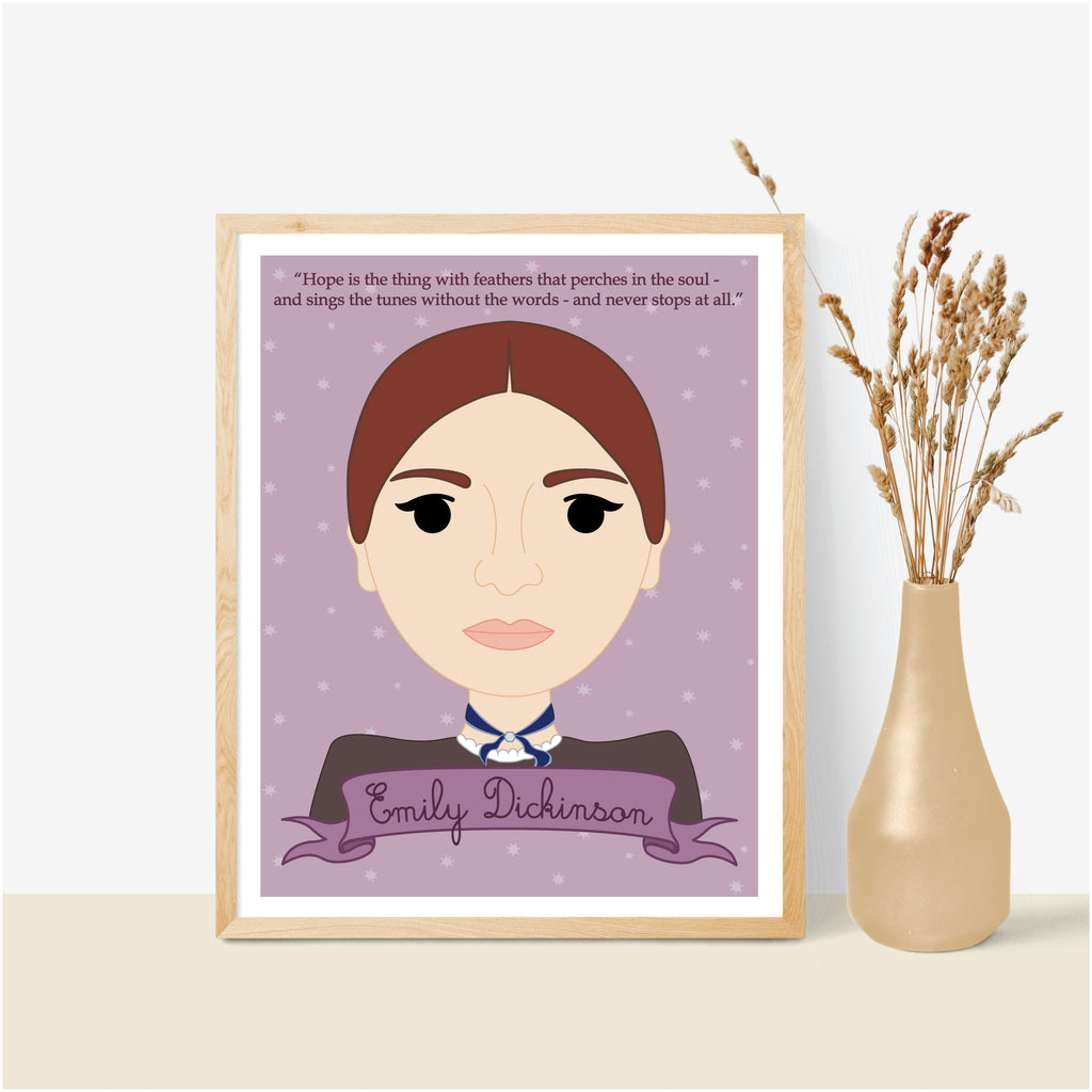 Sheroes Collection: Emily Dickinson 8x10 Art Print