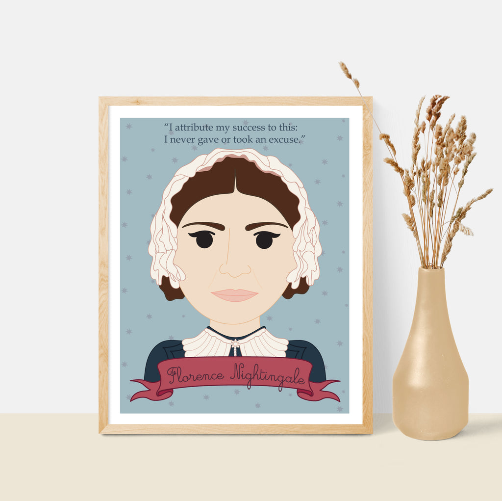 Sheroes Collection: Florence Nightingale 8x10 Art Print