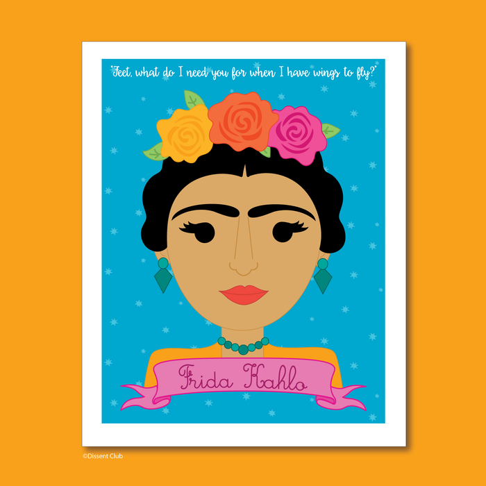 Sheroes Collection: Frida Kahlo 8x10 Art Print
