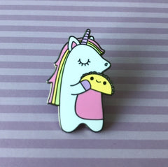 Unicorn & Taco Enamel Pin