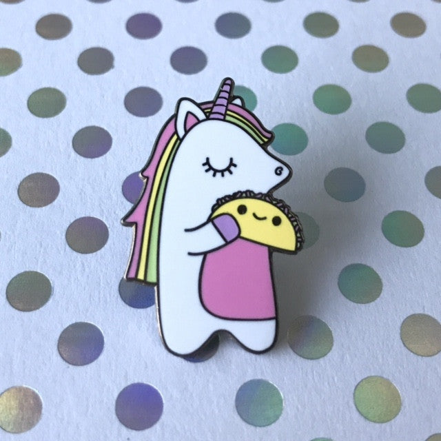 Super Cute Pastel Unicorn & Taco Enamel Pin