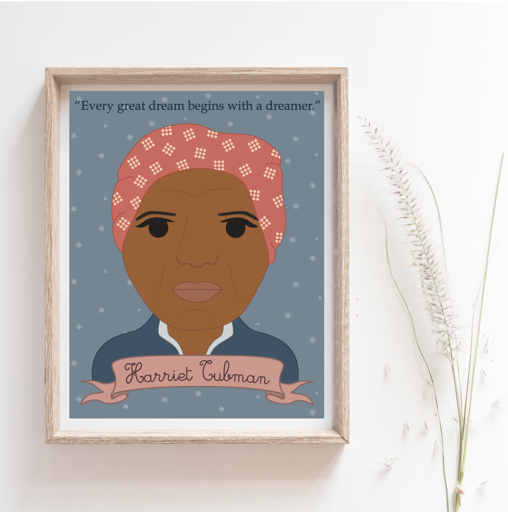 Sheroes Collection: Harriet Tubman 8x10 Art Print