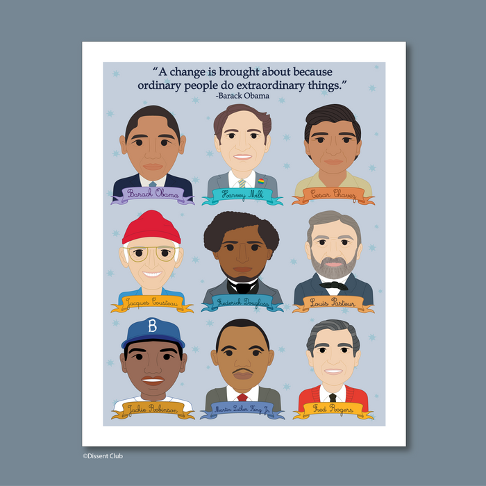 Heroes Collection: Famous Men in History 8x10 Art Print