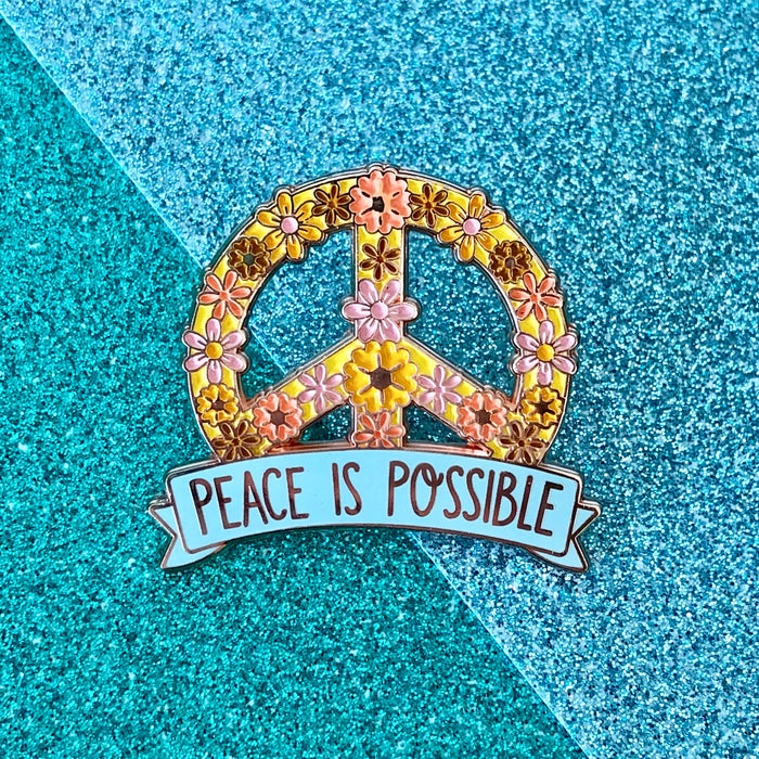 Peace is Possible Enamel Pin