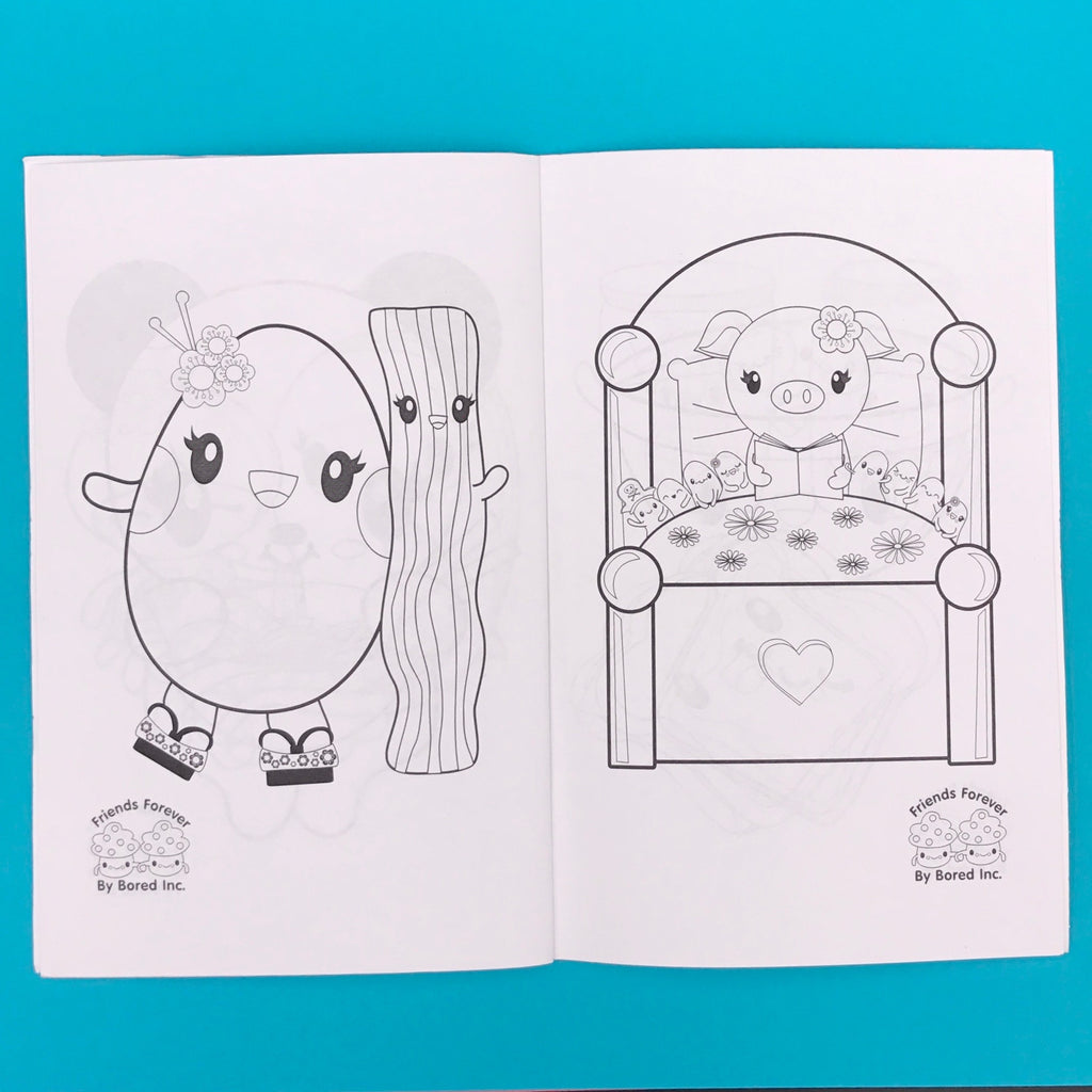 Friends Forever BFF Kawaii Kid's Coloring Book