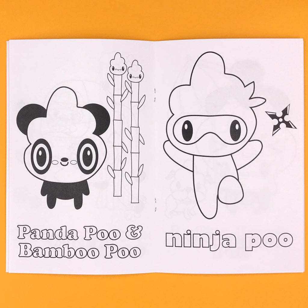 Stinky Poo Poop Characters Kid's Coloring Book