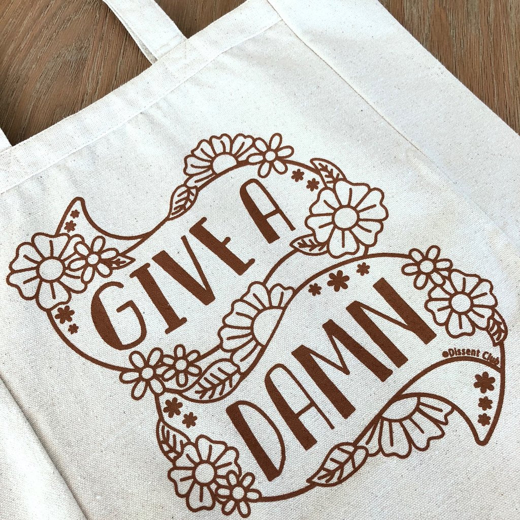 Give a Damn Canvas Tote Bag