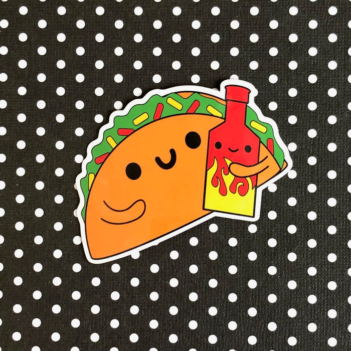 Taco & Hot Sauce Sticker