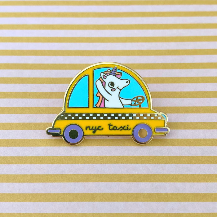 Unicorn Taxi Driver New York NY Enamel Pin