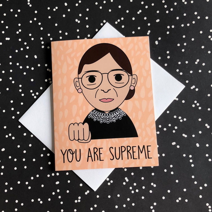 """You Are Supreme"" Notorious RBG Ruth Bader Ginsburg Greeting Card"