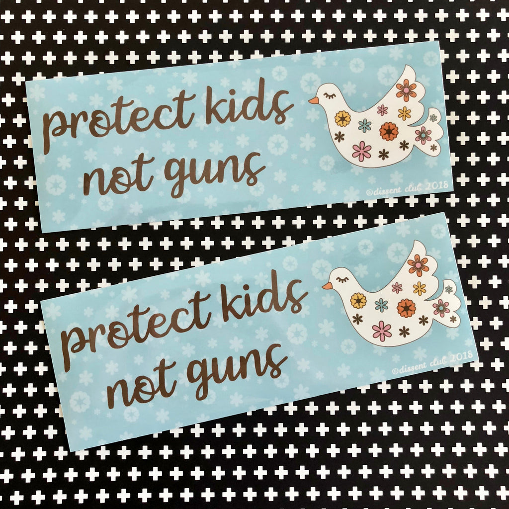 Protect Kids, Not Guns Bumper Sticker