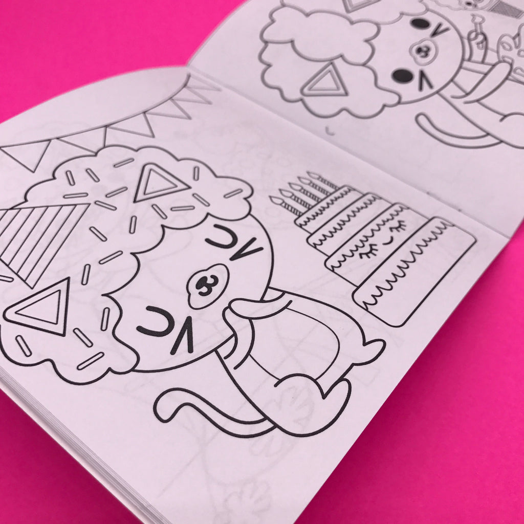 Afro Cat's Kawaii Adventures Coloring Book