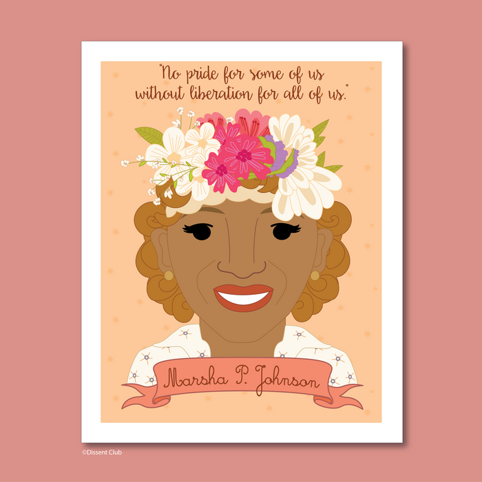 Sheroes Collection: Marsha P. Johnson 8x10 Art Print