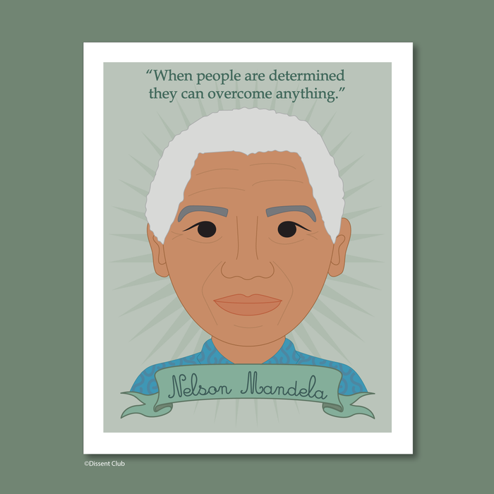 Heroes Collection: Nelson Mandela 8x10 Art Print