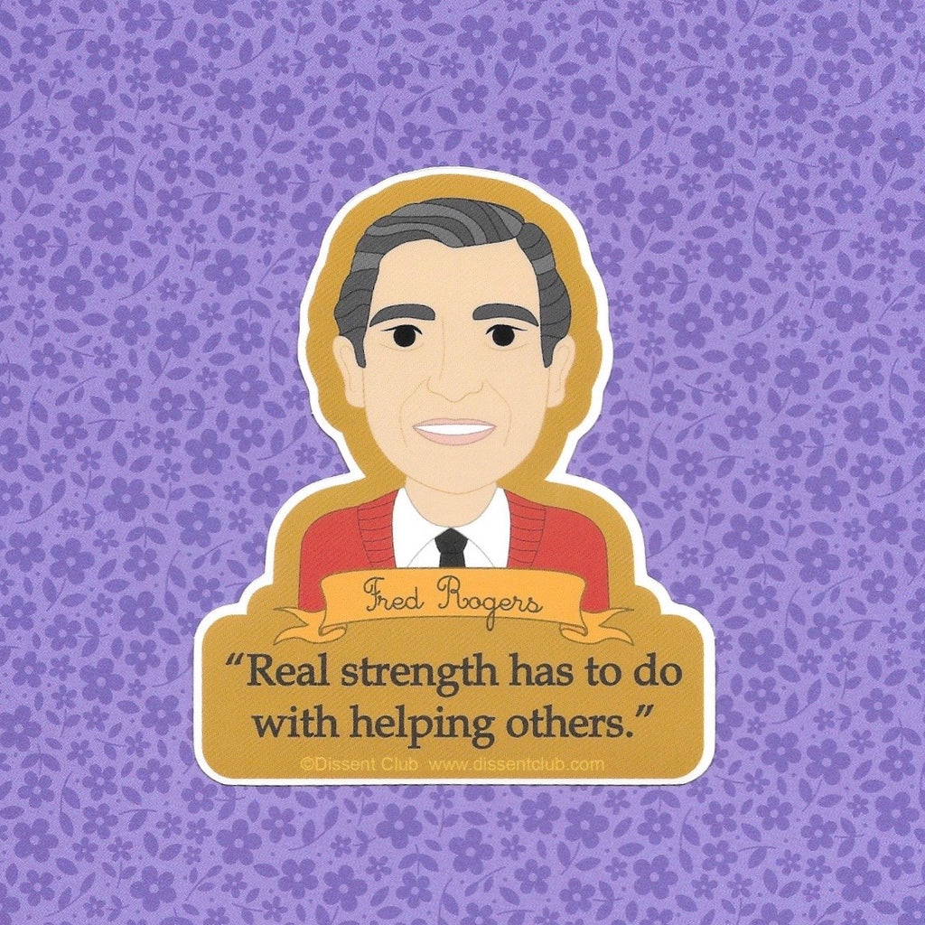 "Fred ""Mister"" Rogers ""Helping Others"" Quote Sticker"