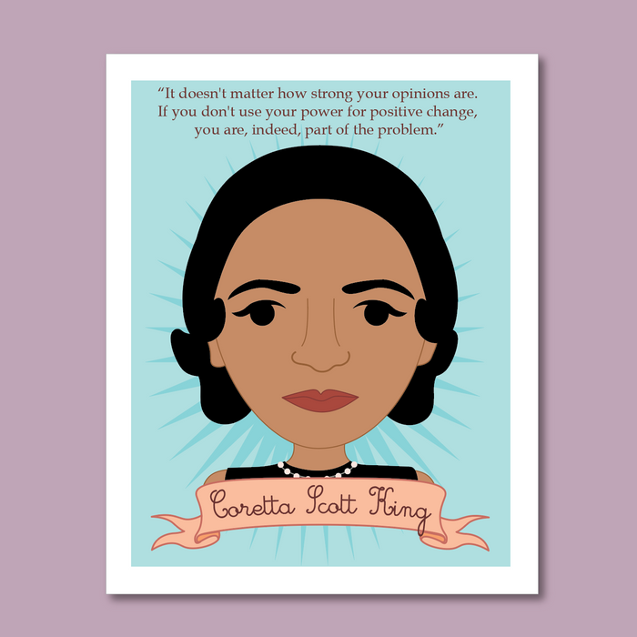 Sheroes Collection: Coretta Scott King 8x10 Art Print