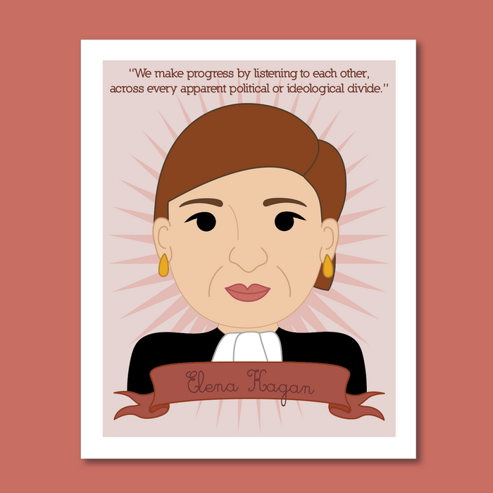 Sheroes Collection: Elena Kagan 8x10 Art Print