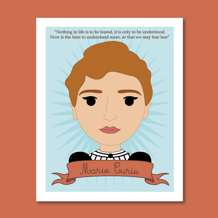 Sheroes Collection: Marie Curie 8x10 Art Print