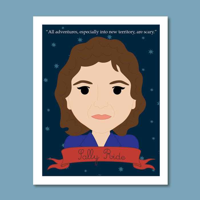 Sheroes Collection: Sally Ride 8x10 Art Print