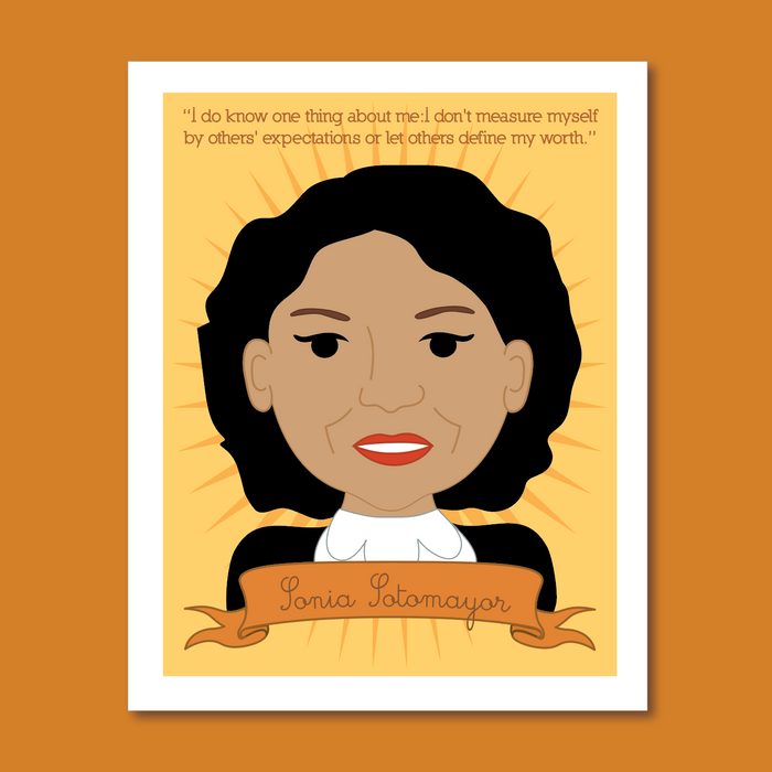 Sheroes Collection: Sonia Sotomayor 8x10 Art Print