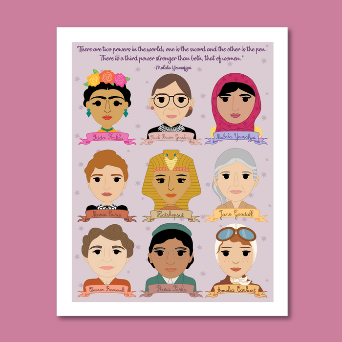 Sheroes Women in History Collection 8x10 Art Print