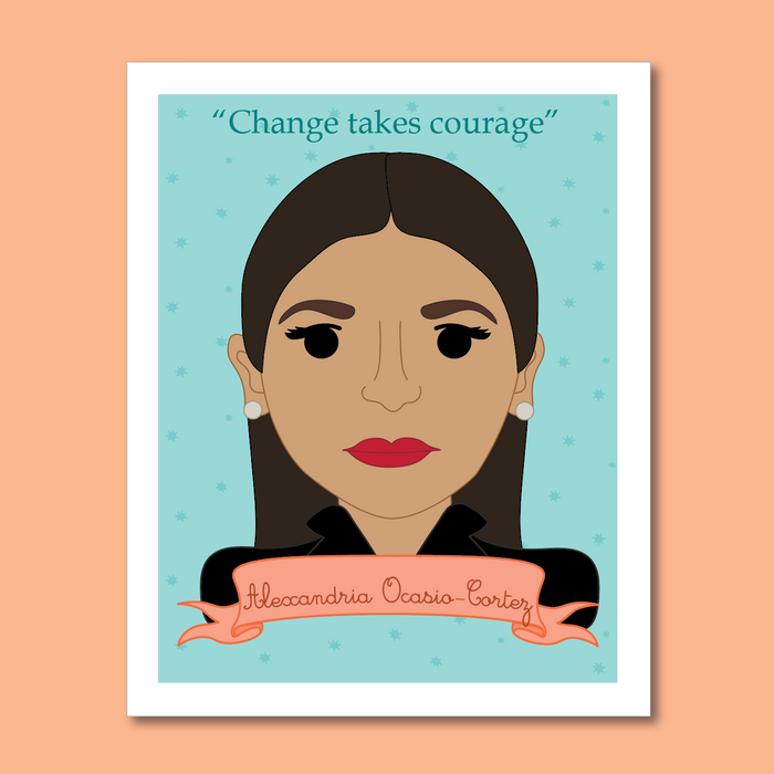 Sheroes Collection: Alexandria Ocasio-Cortez AOC 8x10 Art Print