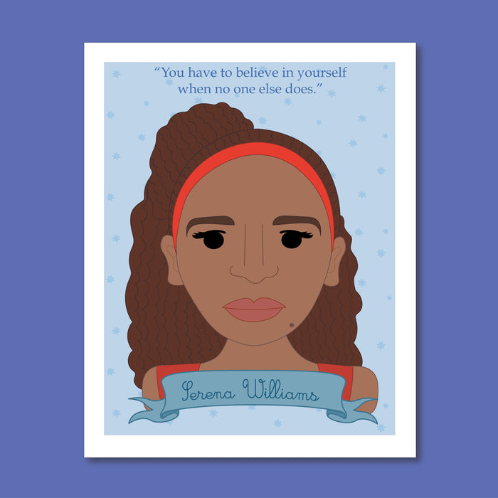 Sheroes Collection: Serena Williams 8x10 Art Print