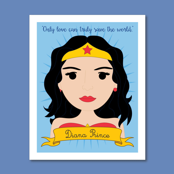Sheroes Collection: Diana Prince Wonder Woman 8x10 Art Print