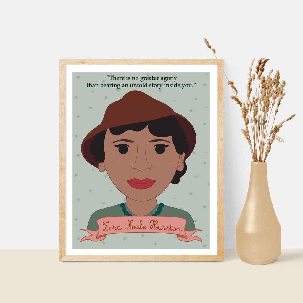 Sheroes Collection: Zora Neale Hurston 8x10 Art Print