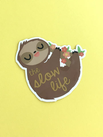 The Slow Life Sloth Sticker