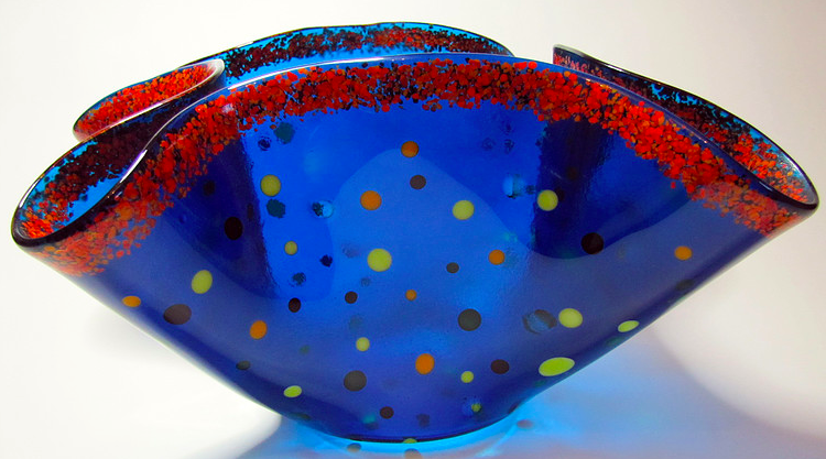 JK - IDEAS bowl (blue with red and yellow)