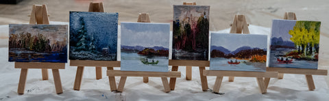 MV -  Miniature  Landscapes  with easel