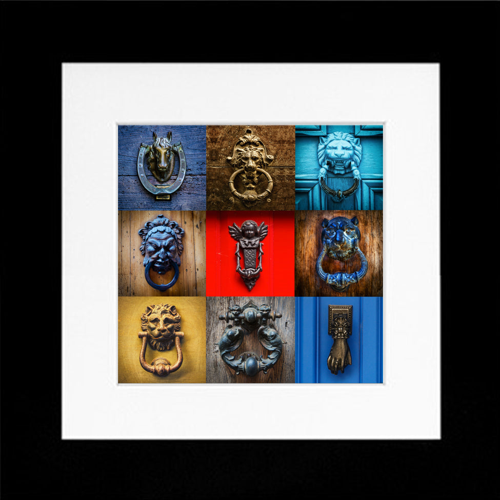 LT - KNOCKERS - 14''x14'', framed