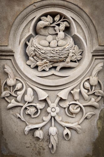 Mary Pratte.  Carvings VI, Bethesda Terrace, Central Park
