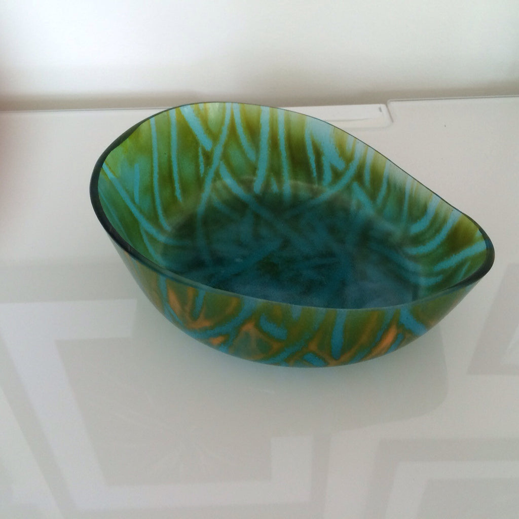JK - Green Drop Bowl