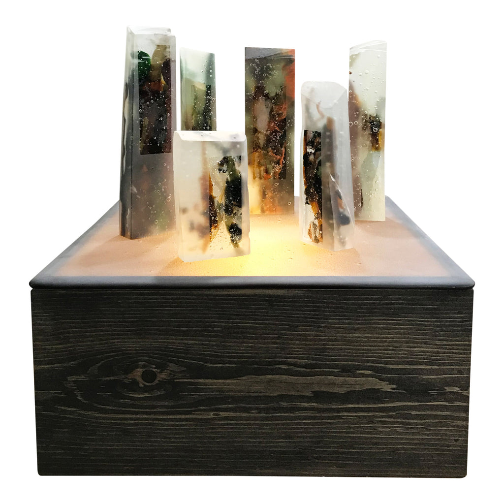 JK - Standing Stones on Glass Lightbox