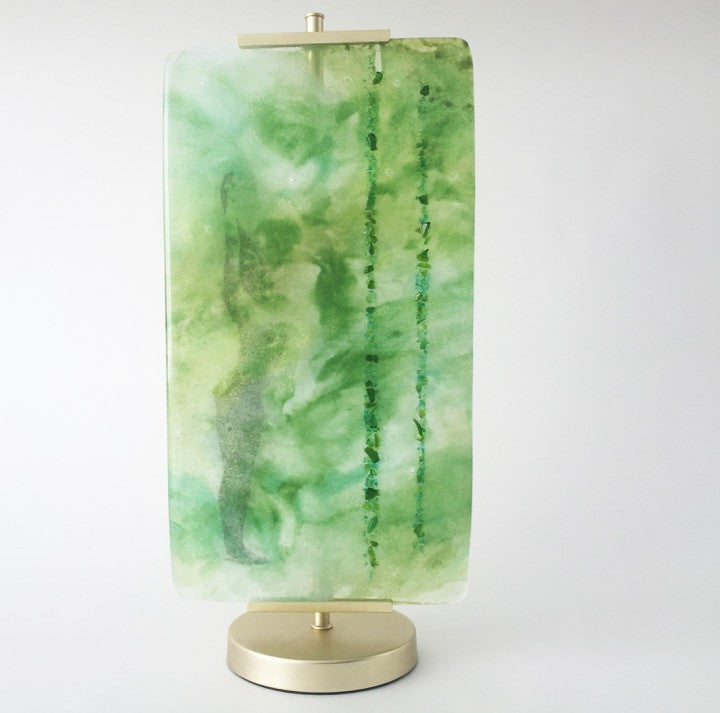 JK - Zen Forest glass panel on stand