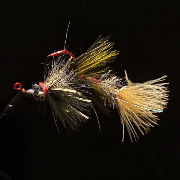 Smoke & Mirrors Jig Fly - Black & Tan