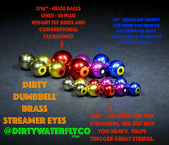 "DWFCo Dirty Dumbbell Streamer Eyes - 5/16"" 3 Pack"