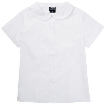 White Girls Peter Pan Collar Blouse