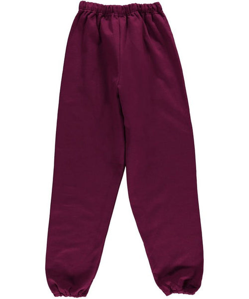 Burgundy Sweatpants w/ Logo