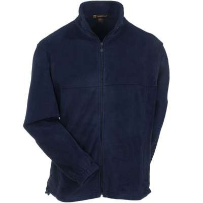 Navy Micro-Fleece Full Zip Jacket w/ Logo