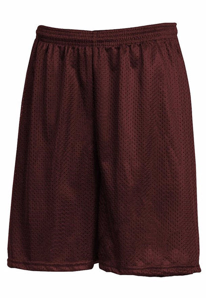 Burgundy Mesh Gym Shorts w/ Logo