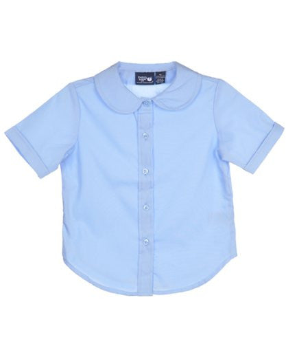 Light Blue Girls Peter Pan Collar Blouse