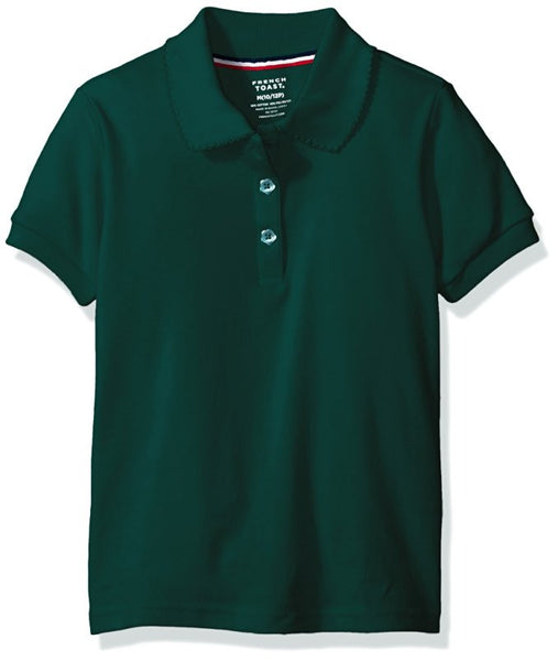 Hunter Green Picot Collar Polo w/ Logo